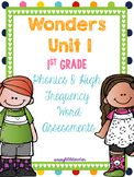 McGraw Hill Wonders 1st Grade Unit 1 Phonics & High Frequency Word Assessments