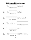 McGraw Hill Reading Wonders © 1st Grade Unit 1 Week 1 Sent