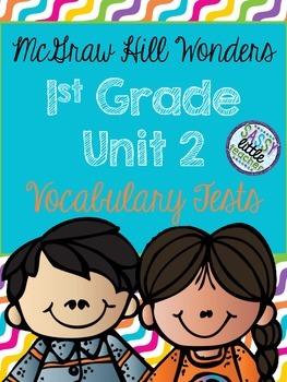 McGraw Hill Wonders 1st Grade Unit 2 Vocabulary Tests