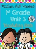McGraw Hill Wonders 1st Grade Unit 3 Vocabulary Tests