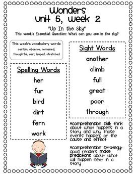 McGraw-Hill Wonders 1st Grade Unit 5 Parent Communication