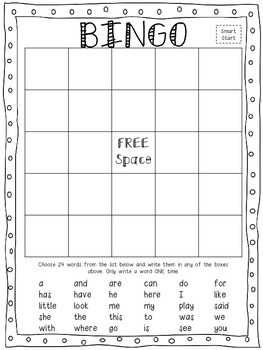 McGraw-Hill Wonders 1st grade High-Frequency Word BINGO games