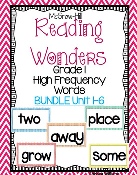 McGraw Hill Wonders 1st grade High Frequency (sight words) ALL YEAR