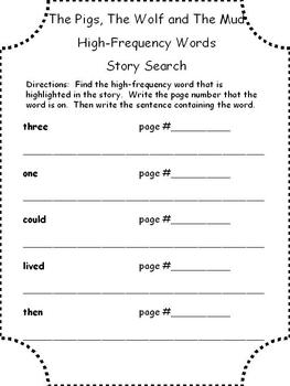 McGraw Hill Wonders 2013 1st Grade High Frequency Words Story Search