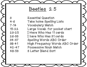 McGraw-Hill Wonders 2nd Grade Beetles {6 Vocabulary and Spelling Activities}