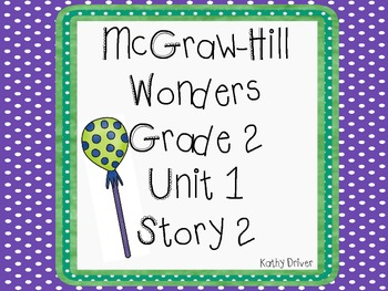 McGraw-Hill Wonders 2nd Grade Big Red Lollipop 6 activities by Kathy Driver