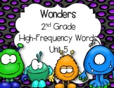 McGraw Hill Wonders 2nd Grade High Frequency Words Unit 5 BOING