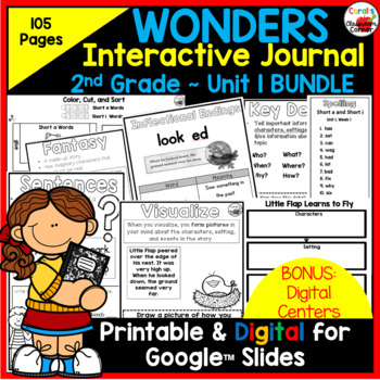 Wonders 2nd Grade Interactive Journal Unit 1 BUNDLE