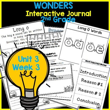 Wonders 2nd Grade Interactive Journal Unit 3 -Week 3
