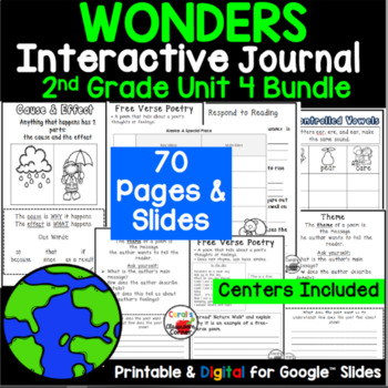 Wonders 2nd Grade Interactive Journal Unit 4 BUNDLE