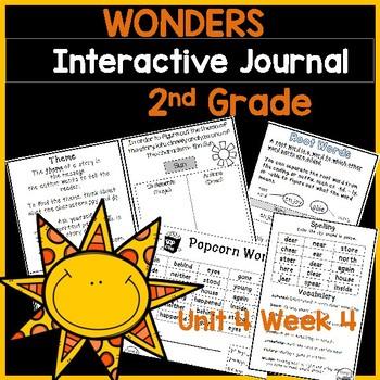 Wonders 2nd Grade Interactive Journal Unit 4- Week 4