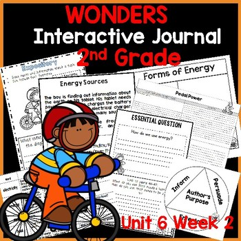 McGraw Hill Wonders 2nd  Grade Interactive Journal Unit 6- Week 2