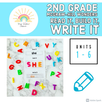 McGraw-Hill Wonders 2nd Grade Sight Words- Read it, Build it, Write it