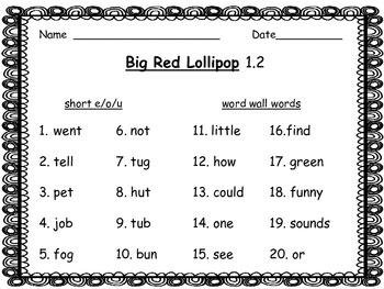 McGraw-Hill Wonders 2nd Grade Spelling List Unit 1