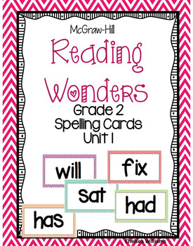 McGraw-Hill Wonders 2nd Grade Spelling Words Unit 1