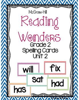 McGraw-Hill Wonders 2nd Grade Spelling Words Unit 2