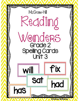 McGraw-Hill Wonders 2nd Grade Spelling Words Unit 3
