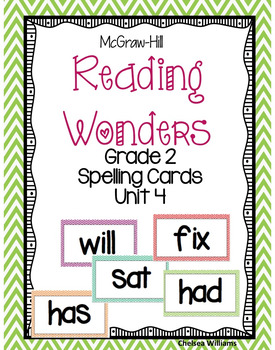 McGraw-Hill Wonders 2nd Grade Spelling Words Unit 4