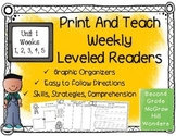 McGraw Hill Wonders 2nd Grade Unit 1 Print and Teach Leveled Readers