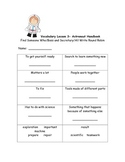 McGraw Hill Wonders 2nd Grade Vocabulary Activities unit 6