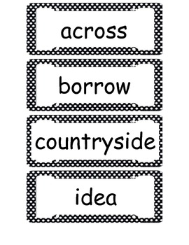 McGraw Hill Wonders 2nd Grade Vocabulary Cards Unit 3