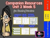 Reading Wonders Unit 3 Week 5 MegaPack for Grade 3