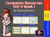 Reading Wonders Unit 4 Week 1 MegaPack for Grade 3