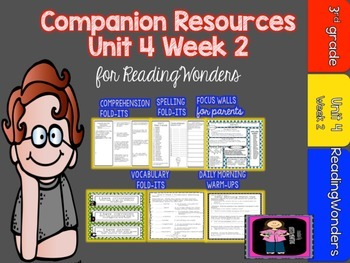 Reading Wonders Unit 4 Week 2 MegaPack for Grade 3