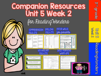 Reading Wonders Unit 5 Week 2 MegaPack for Grade 3