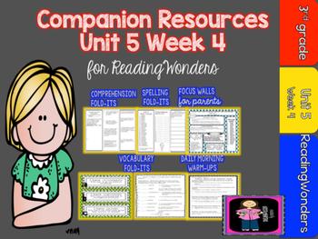 Reading Wonders Unit 5  Week 4 MegaPack for Grade 3