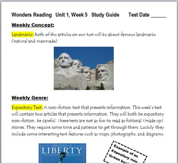 McGraw-Hill Wonders 3 Gr Unit 1, Week 5 Power Point and Study Guide Pack