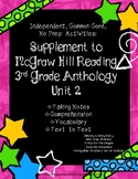 McGraw Hill Wonders 3rd Gr. Anthology Unit 2 No Prep, Note Taking w/Questions