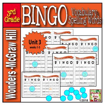 McGraw-Hill    Wonders  3rd Grade  BINGO   Unit 3