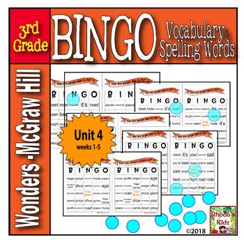 McGraw-Hill    Wonders  3rd Grade  BINGO   Unit 4
