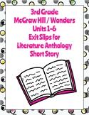 McGraw Hill Wonders 3rd Grade Literature Anthology Short S