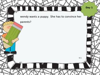 McGraw-Hill Wonders 3rd Grade Daily Language Activity Unit 5