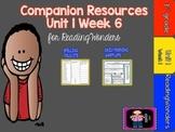 Reading Wonders Unit 1 Week 6-FREEBIE for Grade 3