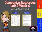 Reading Wonders Unit 6 Week 6 Mini Unit -FREEBIE for Grade 3
