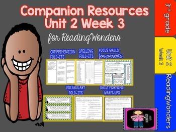 Reading Wonders Unit 2 Week 3 MegaPack for Grade 3