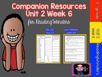 Reading Wonders Unit 2 Week 6  Mini Unit -FREEBIE for Grade 3