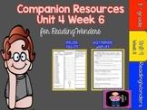 Reading Wonders 3rd Grade Supplemental Mini Unit 4 Week 6-FREEBIE