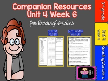 Reading Wonders 3rd Grade Supplemental Mini Unit 4 Week 6-FREEBIE