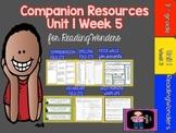 Reading Wonders Unit 1 Week 5  MegaPack for Grade 3