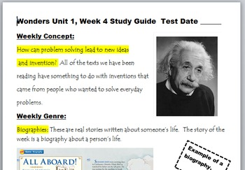 McGraw-Hill Wonders 3rd Gr Unit 1, Week 4 Power Point and Study Guide Pack