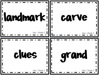 Wonders Grade 3: Unit 1 Week 5 Vocabulary Games