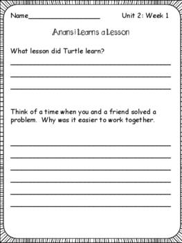 McGraw-Hill Wonders 3rd Grade  Unit 2: Week 1 Printables