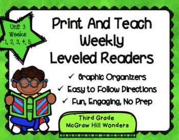 McGraw Hill Wonders 3rd Grade Unit 3 Print and Teach Leveled Readers