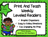 McGraw Hill Wonders 3rd Grade Unit 3 Print and Teach Level