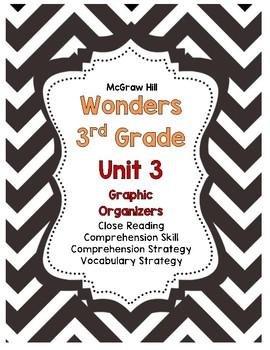 Wonders McGraw-Hill 3rd Grade Unit 3 Story Skills Reading Strategies Pack