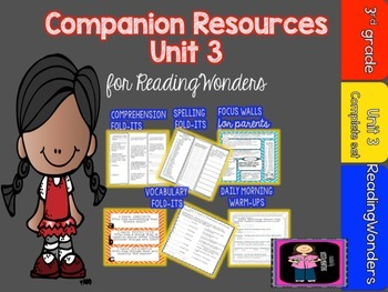 "Reading Wonders Unit 3 ""The Complete Set"" of Mega Pack Units for Grade 3"